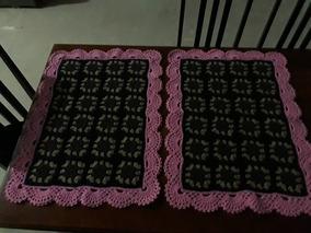 Dois Tapetes Em Croche Luxo Promoção