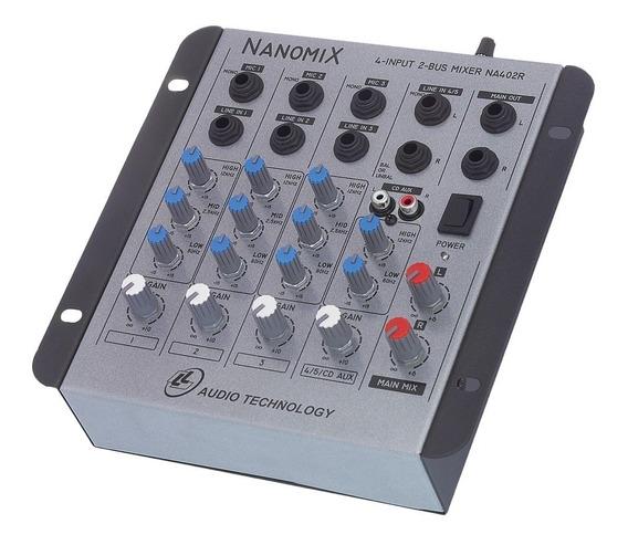 Mesa De Som 4 Canais Misturador Ll Audio Na402r Envio 24hrs