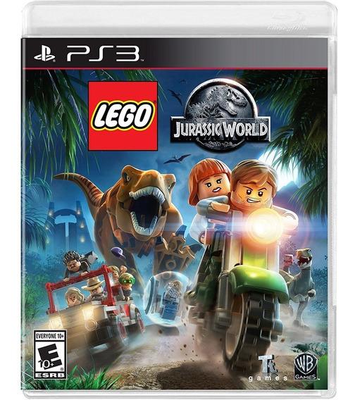 Lego Jurassic World Ps3 Mídia Física Lacrado Em Português