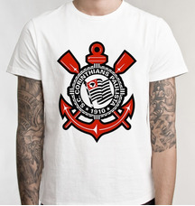 Camisetas Blusas Manga Curta Corinthians no Mercado Livre Brasil 3c9b93366d802
