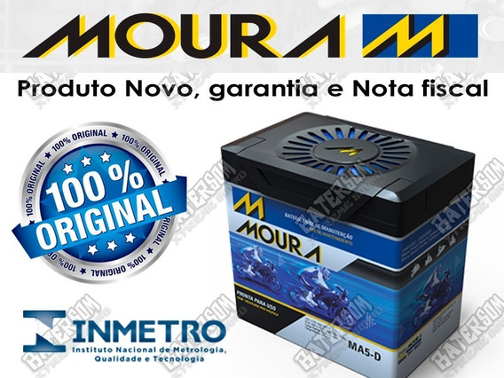 Bateria Moura Moto 5ah Honda Biz,titan,bros,xre300,fazer150