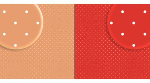 Imagem 1 de 2 de Repeteco - Duo Básico Bolas Salmão/vermelho - Mostarda