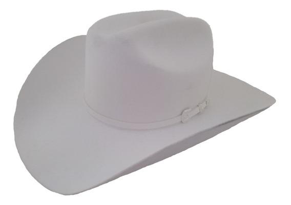 Sombrero Texana 4 X Marca Stetson Blanco Lana Pelo De Búfalo