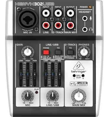 Mesa De Som Behringer Xenyx 302usb, Com Interface Usb/áudio