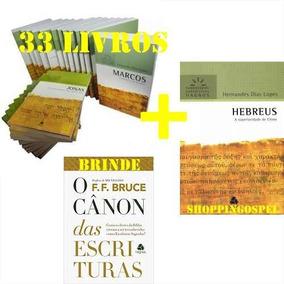 Coleção Comentário Bíblico Hernandes 33 Livros + Brinde