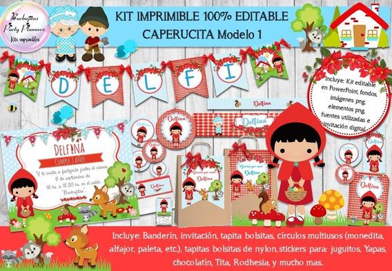 Invitacion De Cumpleaños Caperucita Roja Recuerdos