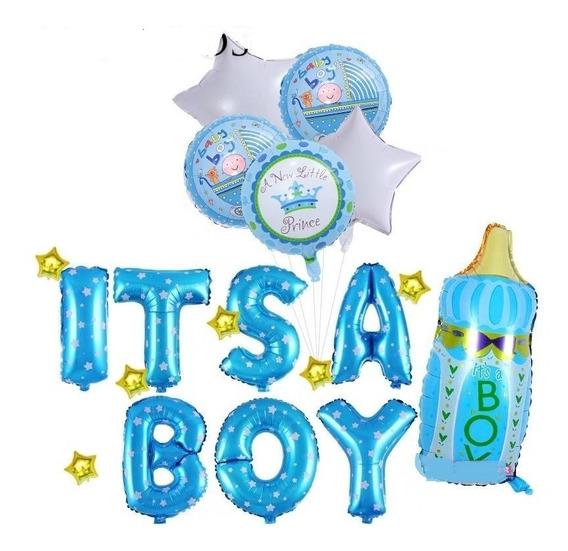 Set Globos Baby Shower 19 Piezas. Niño O Niña. Envío Gratis