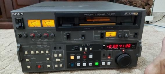 Vídeo Cassete Profissional Sony Betacam Sp Pvw 2800 Funciona