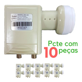 Lnbf Universal Duplo - Banda Ku Brasilsat Pcte Com 10 Peças