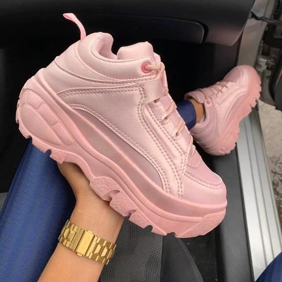 Tênis Sneaker Buffalo Feminino Plataforma Conforto 2