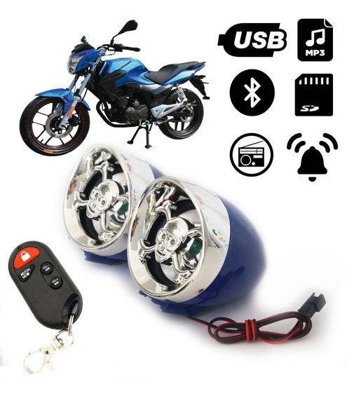 Caixa De Som Moto Bluetooth Usb Sd Fm Atende Celular 82559