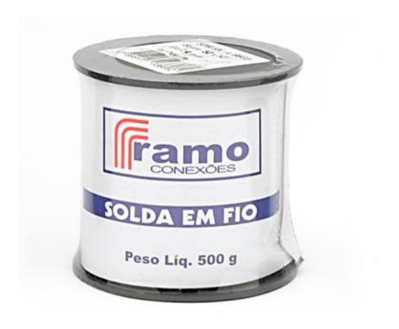 Solda Estanho Carretel Ramo 2,4mm 500grs