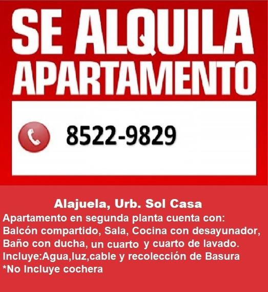 Apartamento Dos Cuartos Urb Sol Casa, Alajuela