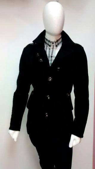 Bonito Abrigo Negro Caballero