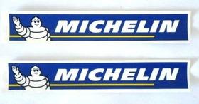 2 Adesivos Logo Pneu Michelin 21cm X 3,5cm Carenagem Da Moto