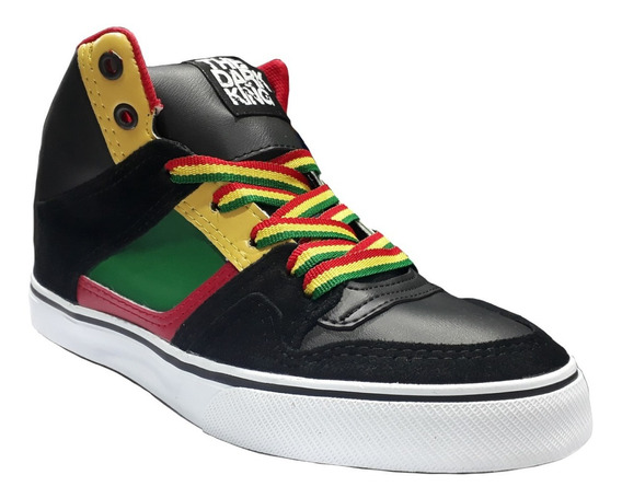 Botita Skate Horma Ancha Colores Rasta The Dark King