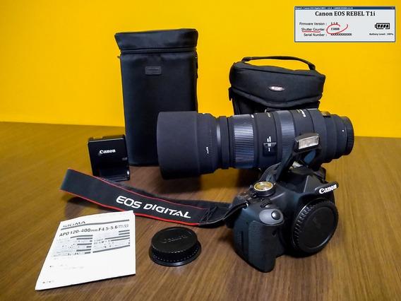 Canon T1i 15000 Cliques Dslr + Lente Zoom Sigma 120-400mm