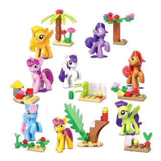 Sy682 My Little Pony Set X 8 Mini Figuras Mi Pequeño Pony