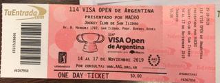 Entradas 114 Visa Open De Argentina -pga Golf