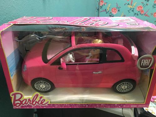 Barbie Carro Fiat 500 Com Boneca 2013 Novo