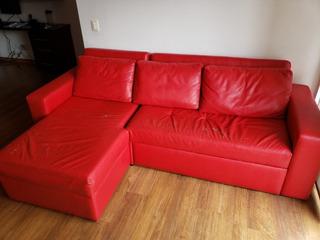 Oportunidad - Sala En L Multifuncional (sofá Cama + Baúl)