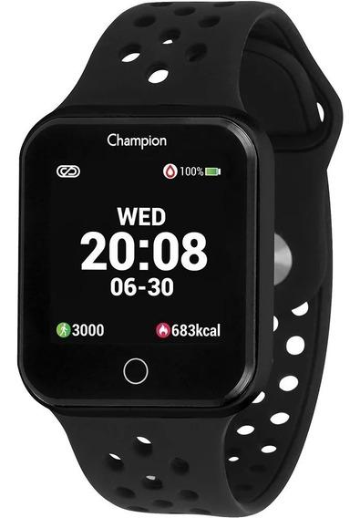 Relógio Smartwatch Champion Preto Lançamento Original + Nf