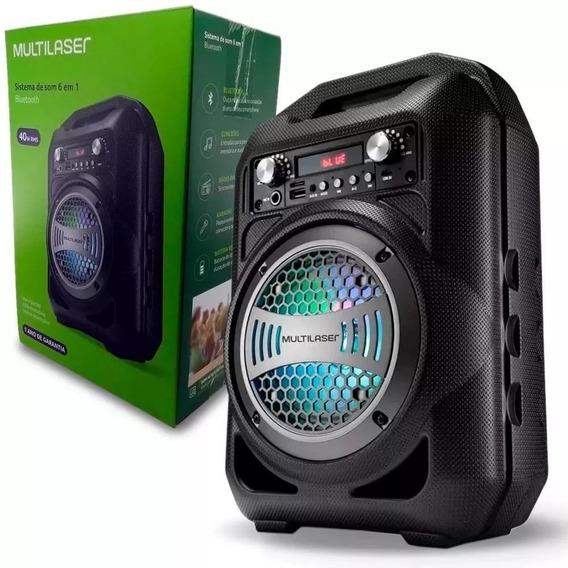 Caixa De Som Bluetooth 50w Rms Fm Multilaser - Sp255