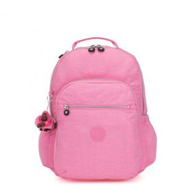 Kipling Mochila Bp4359 Posey Pink Seoul Go Nova Original