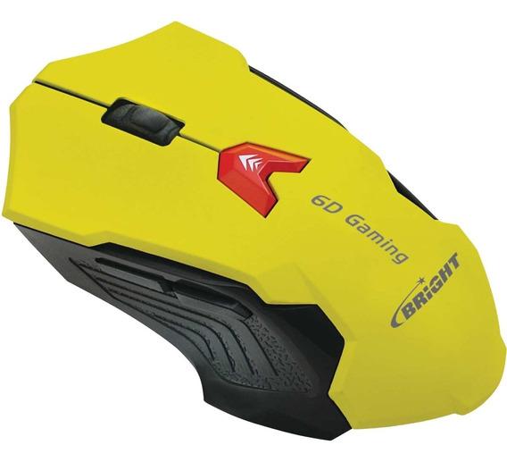 Mouse Gamer Bright 6d 2400dpi Usb Óptico (12333)