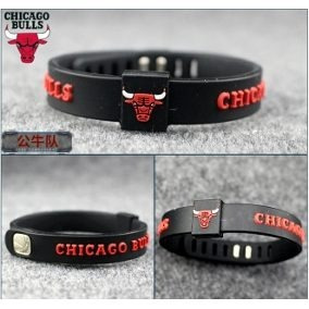 Pulseira Nba Basquete - Chicago Bulls - Frete Grátis