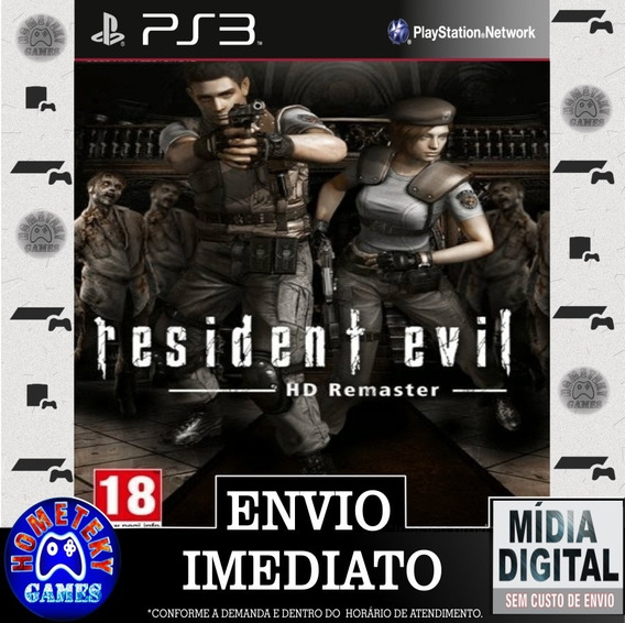 Resident Evil Hd Remaster - Psn Ps3 Play 3