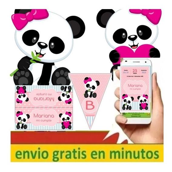 Kit Imprimible Oso Panda Ositos Editable 2020 El Mejor Preci