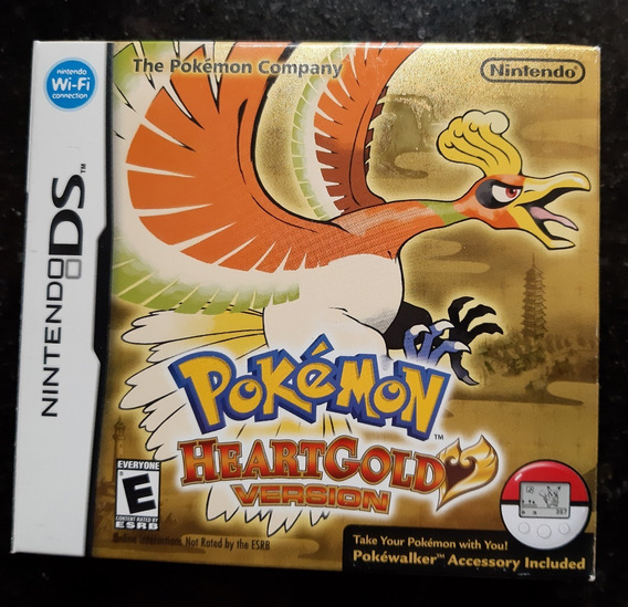 Pokemon Heartgold Original Nintendo Ds - Completo Pokewalker