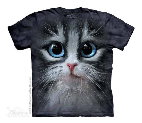 Camiseta The Mountain 3d - 100% Algodão / Gato Manhoso