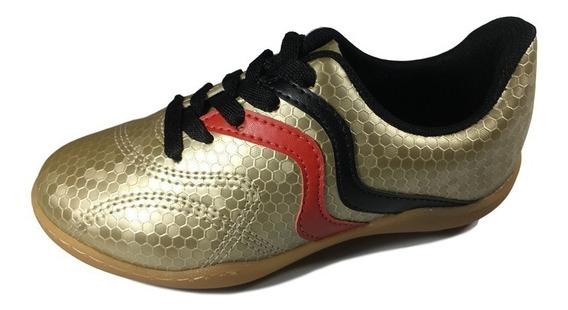 Tênis Esportivo Chuteira Dourada Molekinho Meninos