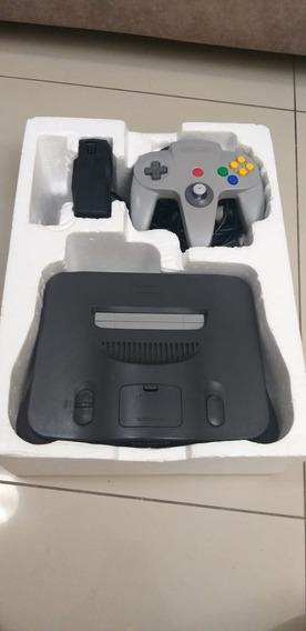 Console Nintendo 64 Americano Com Caixa Completo Com Manual