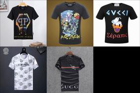 Camiseta Gucci, Philipp Plein, Louis Vuitton, Versace