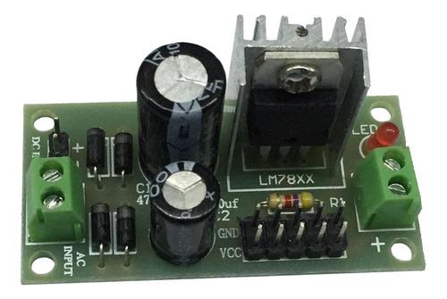 Imagen 1 de 3 de Lm7812 Módulo Regulador De Voltaje De Tres Terminales