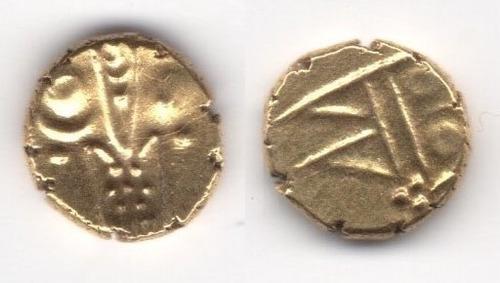 Imagen 1 de 1 de Moneda India Fanam Oro, South India (1658-1779) L198