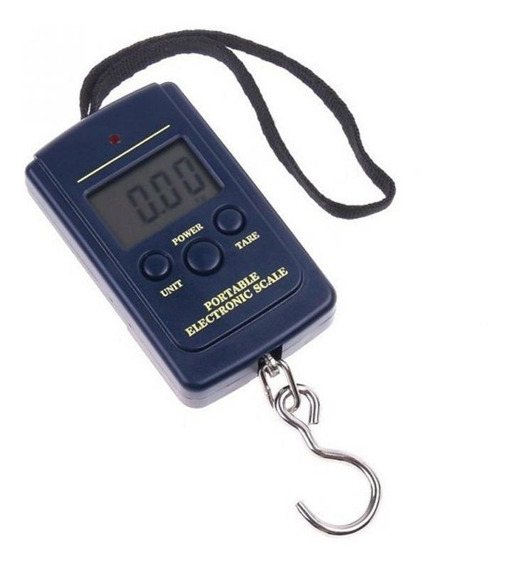 Balanza Electronica Digital De Mano 40kg Pesca Valijas