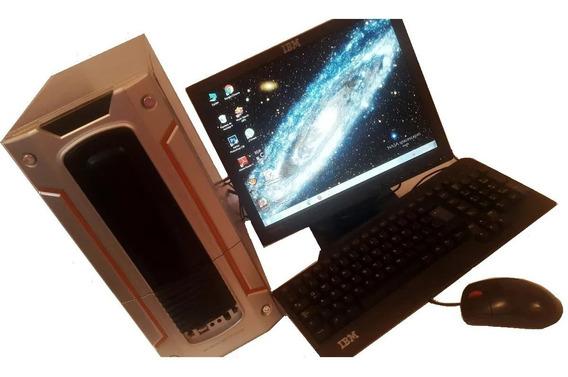 Computadora Pentium Cpu/clon. Monitor, Teclado Y Mouse Ibm.