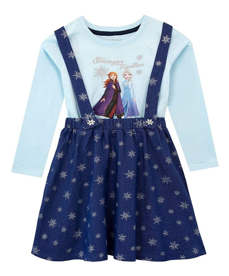 Vestido Y Top De Delantal El Reino Del Frozen Para Niñas