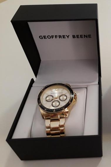 Relógio Masculino Dourado Geoffrey Beene