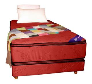 Sommier Colchon 1 Una Plaza Resortes Somier Pillow Top