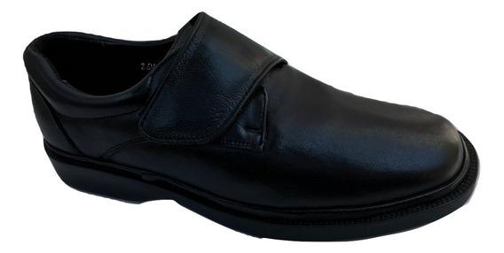 Zapato Casual Choclo Office Comfort 14810ak Negro Piel Cabra