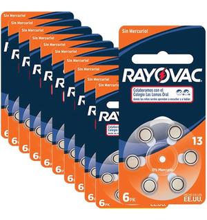 30 Pilas Para Audifono Rayovac Nro. 13 Pr48 1,4v Cinc Aire