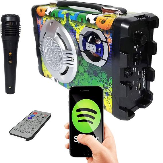Caixa De Som Mondial 8w Bluetooth Com 1 Microfone 1728