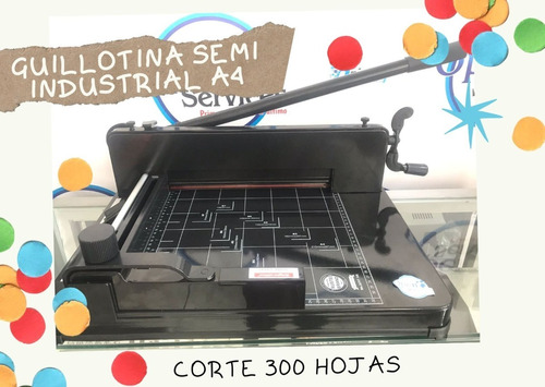 Imagen 1 de 2 de Guillotina Semi Industrial A4 Papel 300 Hojas Nueva