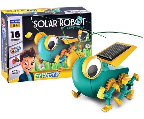 Robo Solar Gafanhoto Educativo Detetive Bugsee Science
