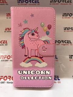 Capa Carteira Samsung J7 Prime Unicornio Pink